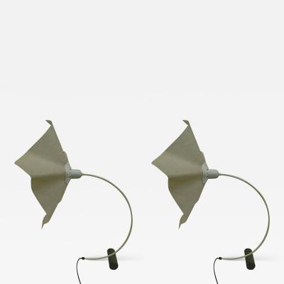 Mario Bellini Pair of Italian Mid Century Modern Table Desk Lamps Area 50 by Mario Bellini
