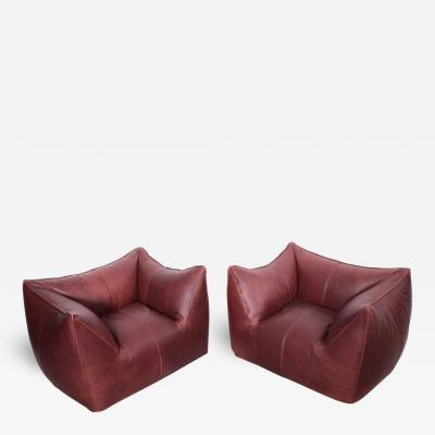 Mario Bellini Pair of Le Bambole Lounge Armchairs B B Italia 1970s by Mario Bellini