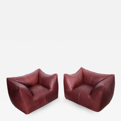 Mario Bellini Pair of Le Bambole Lounge Armchairs B B Italia 1970s by Mario Bellini