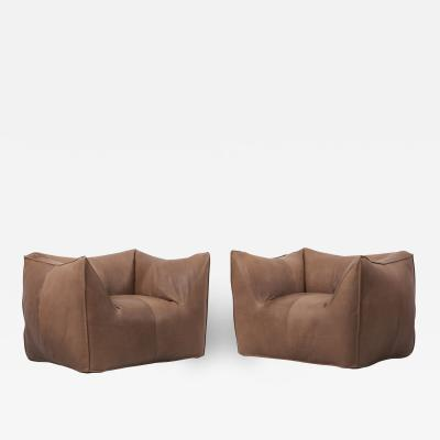 Mario Bellini Pair of Le Bambole Lounge Armchairs by Mario Bellini Italy 1970s