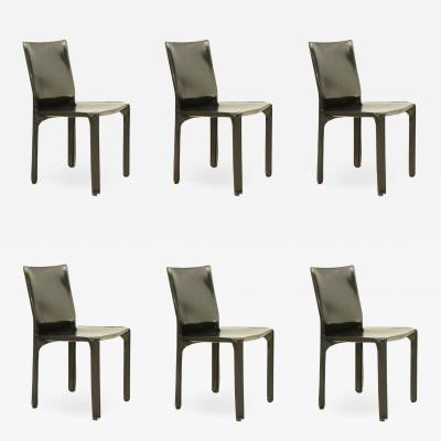 Mario Bellini Set of Six Cab Chairs by Mario Bellini for Cassina