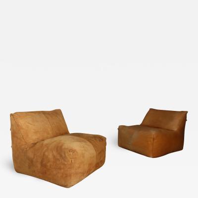 Mario Bellini pair of armchairs Le Bambole Mario Bellini B B italia