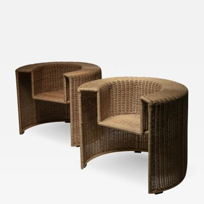 Mario Botta Pair of Charlotte Chairs by Mario Botta for Horm