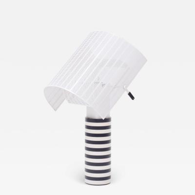 Mario Botta Postmodern Italian Black and White Table Lamp Shogun by Mario Botta