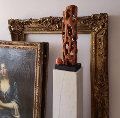Mario Dal Fabbro Untitled Carved Organic Shaped Natural Wood Sculpture
