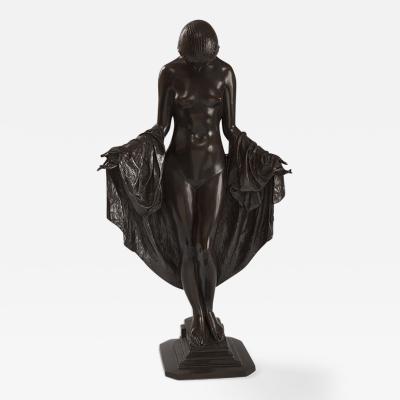 Mario Joseph Korbel Art Deco Nocturne Bronze Sculpture by Mario Joseph Korbel