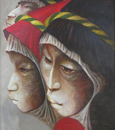 Mario Lopez Cano Oil on Canvas by Mexican Artist Mario Lopez Cano