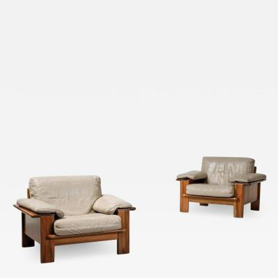 Mario Marenco Pair of Large Armchairs