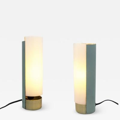 Mario Pasetto Pair of Perspex Table Lamps 1956