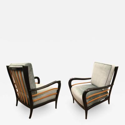 Mario Quarti Pair of 1940s Italian Lounge Chairs Attributed to Mario Quarti