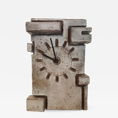Marius Bessone Vallauris Marius Bessone earthware clock