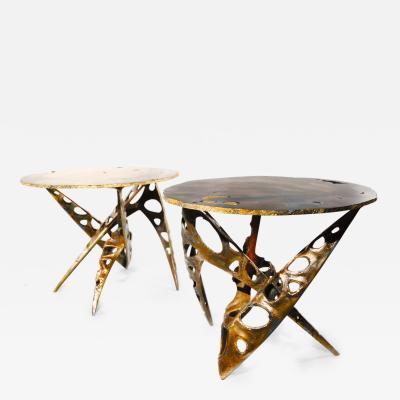 Mark Brazier Jones Quantum Entanglement Agate Coffee Table Pair