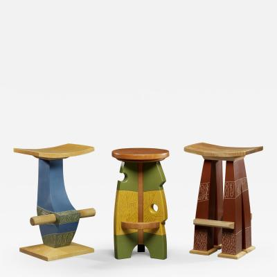 Mark Del Guidice Sculptural Stools