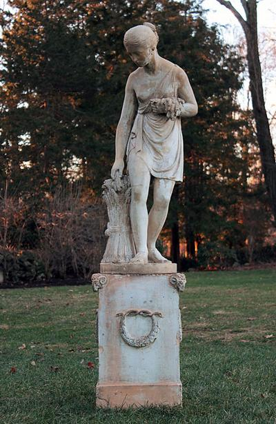 Mark H Blanchard A Fine Terra Cotta Figure of Ceres the Roman Goddess of Agriculture