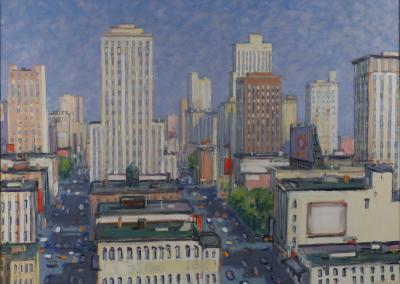 Mark Horton Aerial View of Downtown with Trees 40 x 56