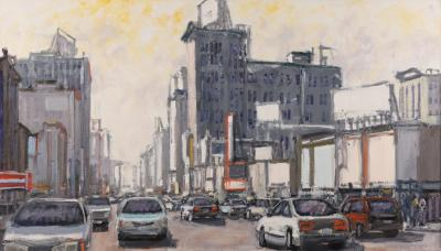 Mark Horton Busy City Street 32 x56