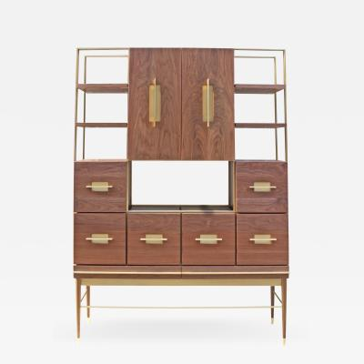 Mark Jupiter Mid Modern American Black Walnut Filing Cabinet by Mark Jupiter