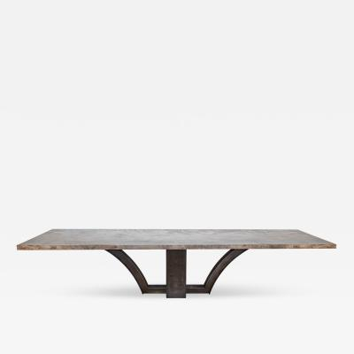 Mark Jupiter Oxidized Maple Slab Table by Mark Jupiter