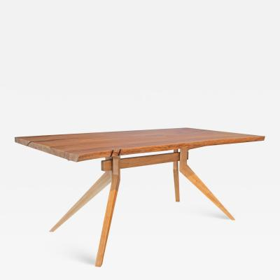 Mark Jupiter Solid Elm Live Edge Dutch Table by Mark Jupiter