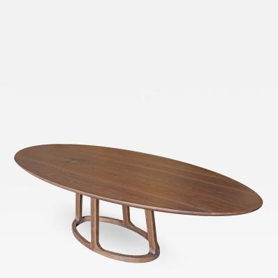 Mark Jupiter Solid Walnut Oval Dining Table by Mark Jupiter