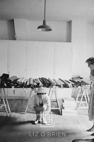 Mark Shaw Coco Chanel Demonstrates Sitting