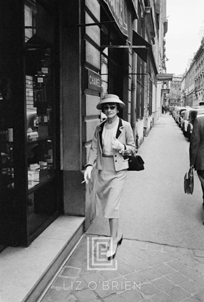 Mark Shaw Coco Chanel Enters Her Paris Boutique