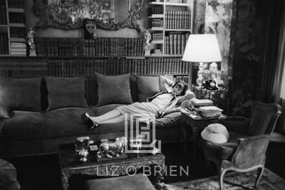Mark Shaw Coco Chanel Lies on Divan