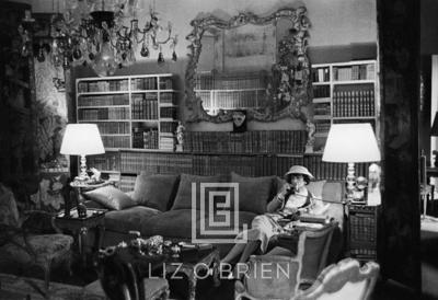 Mark Shaw Coco Chanel Sits on Divan