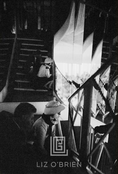 Mark Shaw Coco Chanel Sits on Her Mirrored Stairs