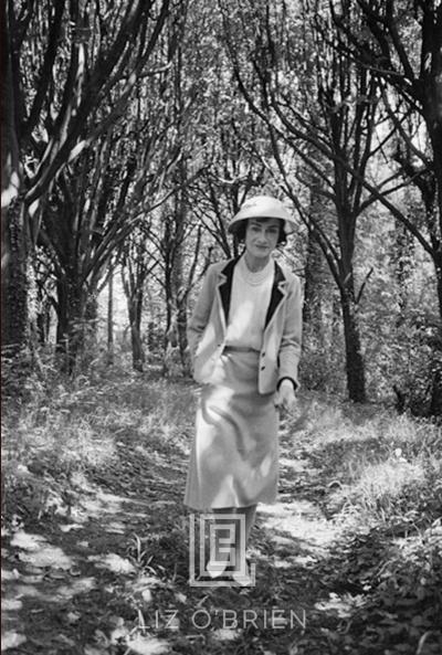 Mark Shaw Coco Chanel Strolls Alone