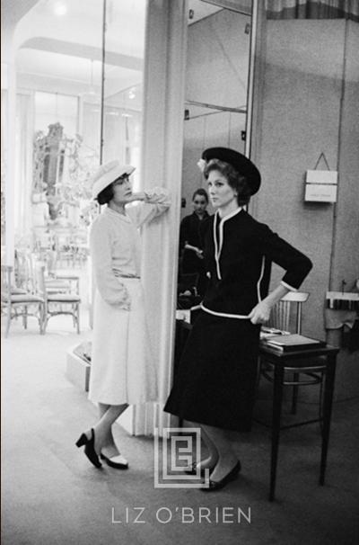 Mark Shaw Coco Chanel with Suzy Parker in Dark Suit