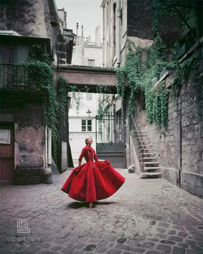 Mark Shaw Courtyard Chanel Red Velvet