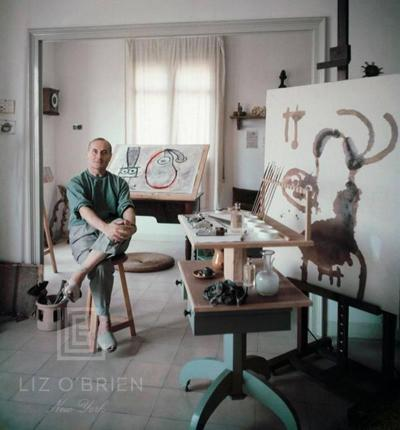 Mark Shaw Miro in His Studio