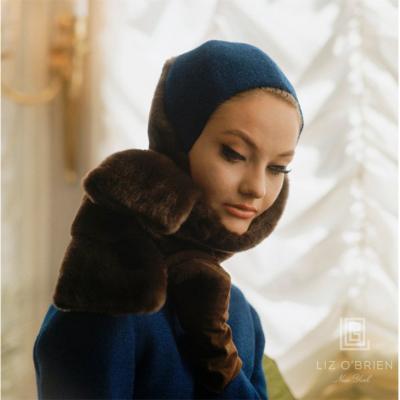 Mark Shaw Mod Blue Fur Hood