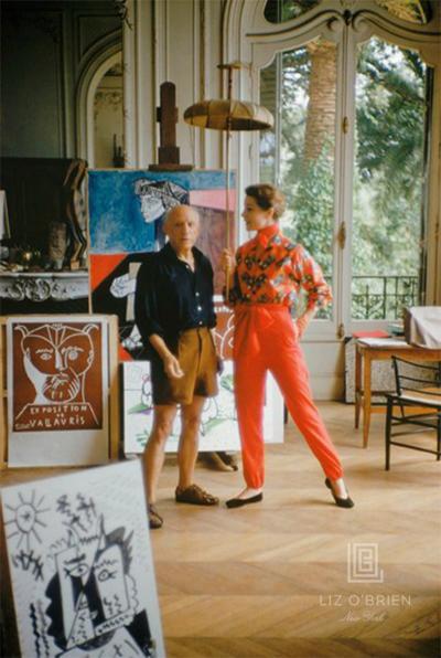 Mark Shaw Picasso With Bettina Graziani In His Studio