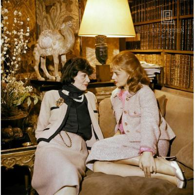 Mark Shaw Portrait of Coco Chanel and Jeanne Moreau