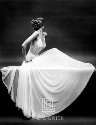 Mark Shaw Vanity Fair Sheer Gown Icon New York ca 1950