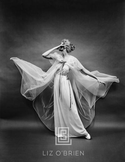 Mark Shaw Vanity Fair Sheer Robe Blowing