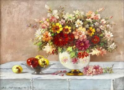 Marko Vukovic Bouquet in Porcelain Vase