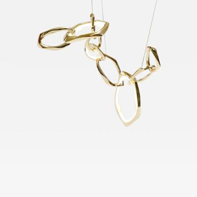 Markus Haase Markus Haase Bronze and Onyx Circlet Chandelier II USA 2019