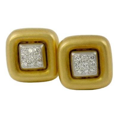 Marlene Stowe Marlene Stowe Pave Diamond Gold Earrings