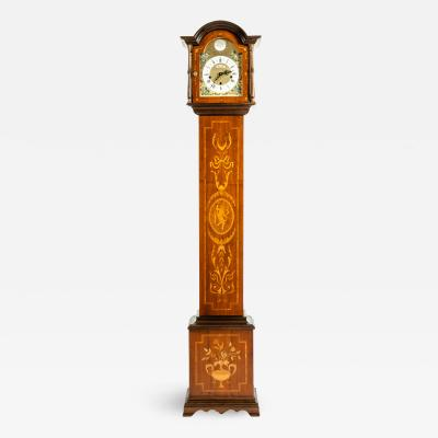 Marquetry Wood Tall Case Clock