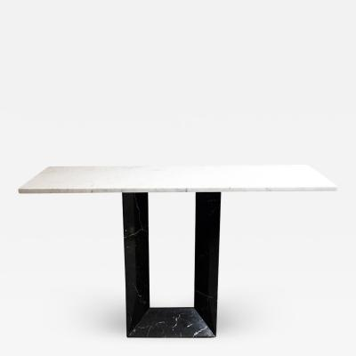 Marquinia and Carrara marble entrance console 1970s