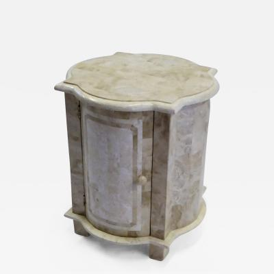 Marquis Collection of Beverly Hills Modern Tessellated End Table or Bedside Table by Marquis of Beverly Hills