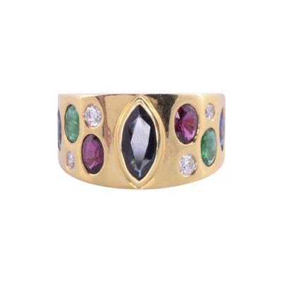 Marquise Sapphire Multi Gemstone Ring