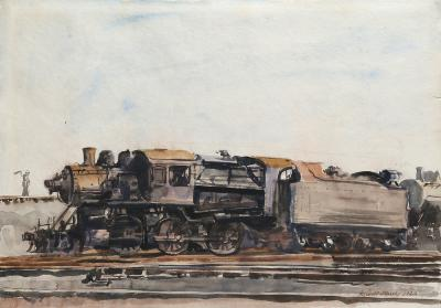 Reginald Marsh Locomotive