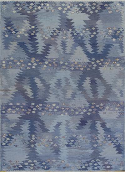 Marta Maas Fjetterstrom Signed Mid Century Handwoven Wool Swedish Rug