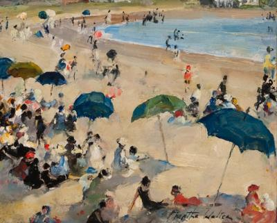 Martha Walter A Line of Beach Umbrellas