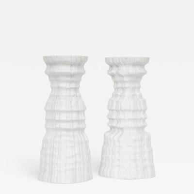 Martin Freyer Glacier Series Candlesticks by Martin Freyer for Rosenthal