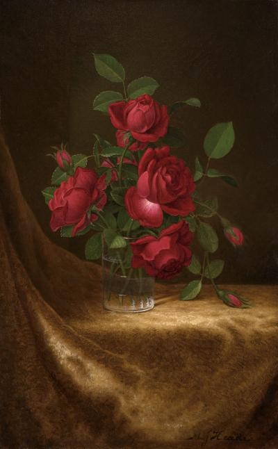 Martin Johnson Heade Four Roses in a Glass c 1883 1900